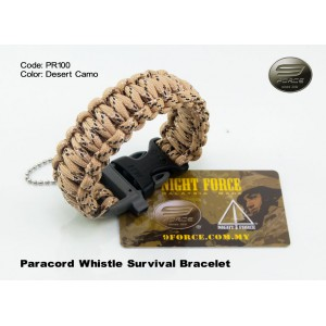 Paracord survival bracelet + ITW whistle buckle PR100
