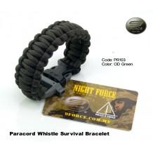 Paracord survival bracelet + ITW whistle buckle