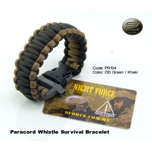 Paracord survival bracelet + ITW whistle buckle