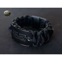 Paracord Survival Bracelet Military Tag