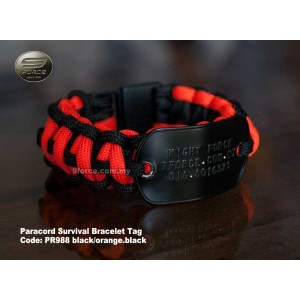 Paracord Survival Bracelet Military Tag