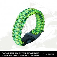 PARACORD SURVIVAL BRACELET + ITW WHISTLE BUCKLE(PR201)