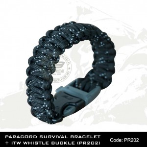 PARACORD SURVIVAL BRACELET + ITW WHISTLE BUCKLE(PR202)
