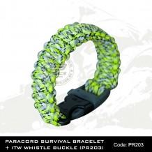 PARACORD SURVIVAL BRACELET + ITW WHISTLE BUCKLE(PR203)