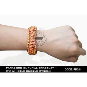 PARACORD SURVIVAL BRACELET + ITW WHISTLE BUCKLE(PR204)