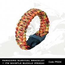 PARACORD SURVIVAL BRACELET + ITW WHISTLE BUCKLE(PR204)