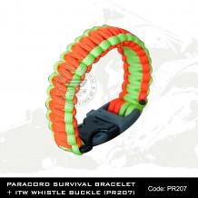 PARACORD SURVIVAL BRACELET + ITW WHISTLE BUCKLE(PR207)