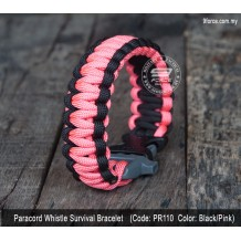 Paracord survival bracelet + ITW whistle buckle (PR110)