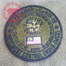 Movement Control Patch (MCO) PATCH 2nd edition for Malaysia. 3 inch, green