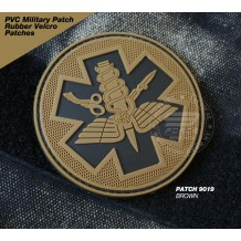 PVC MILITARY RUBBER VELCRO PATCH - PATCH 9019