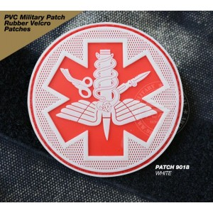 PVC MILITARY RUBBER VELCRO PATCH - PATCH 9018