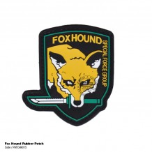 FOX HOUND RUBBER PATCH WITH VELCRO - PATCH9015