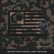 MILITARY PATCH DIGITAL CAMO MALAYSIA - PTACH7720