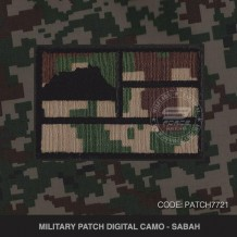 MILITARY PATCH DIGITAL CAMO SABAH - PATCH7721