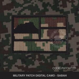MILITARY PATCH DIGITAL CAMO SABAH - PATCH7721