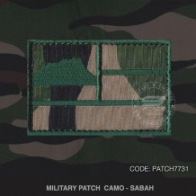 MILITARY PATCH CAMO SABAH - PATCH7731