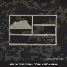 SABAH PATCH DIGITAL CAMO PGA/VAT69 - PATCH7801