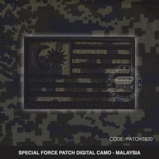 SPECIAL FORCE PATCH DIGITAL CAMO MALAYSIA - PATCH7820