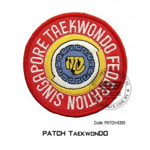 """PATCH TAEKWONDO SINGAPORE 4"""" (patch6305)"""