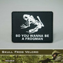 3D Skull Frog(Velcro)-patch2014
