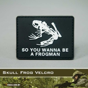 3D Skull Frog (Velcro) - PATCH2014
