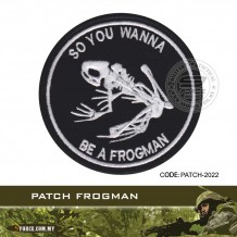 TACTICAL PATCH FROGMAN (VELCRO)