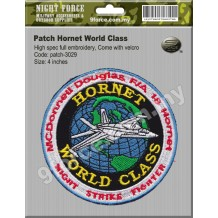 Patch HORNET World Class (Hight Spec full embroidery, come with velcro) - PATCH3029