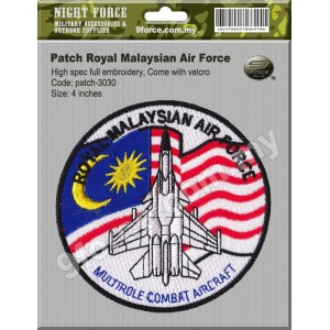 Patch Royal Malaysian Air Force  (Hight Spec full embroidery, come with velcro) - PATCH3030