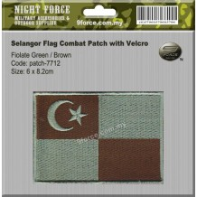 Selangor Flag Combat Patch with Velcro - patch7712