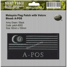 MILITARY MALAYSIA FLAG PATCH (WORDING: A-POS) - PATCH8002