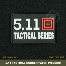 5.11 TACTICAL SERIES TACTICAL RUBBER PATCH, BLACK, COME WITH VELCRO. PATCH9009