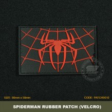 SPIDERMAN TACTICAL RUBBER PATCH, BLACK, COME WITH VELCRO. PATCH9010