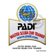 Patch DIVER PADI - MASTER SCUBA DVR TRAINER (patch6214)