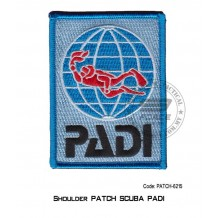 "PADI DIVER Shoulder Patch (4"" x 2"") patch-6215"