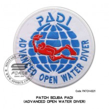 "Patch DIVER PADI - ADVANCED OPEN WATER DIVER 4"" (patch6221)"