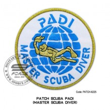"""Patch DIVER PADI - MASTER SCUBA DIVER 4"""" (patch6225)"""
