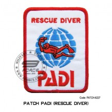 "PADI SCUBA DIVE DIVING RESCUE DIVER PATCH ( 4"" X 3"") patch-6227"