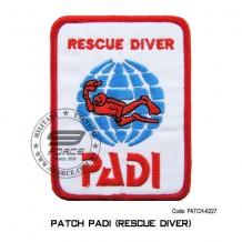 """PADI SCUBA DIVE DIVING RESCUE DIVER PATCH ( 4"""" X 3"""") patch-6227"""