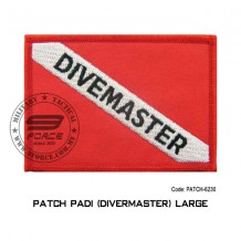 "Patch DIVER PADI - DIVEMASTER 3.5"" x 2.5"" (patch6230)"
