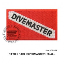 "Patch DIVER PADI - DIVEMASTER 3.5"" x 2.25"" (patch6231)"