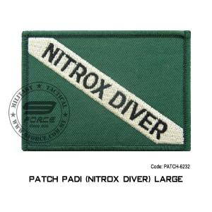 "Patch DIVER PADI - NITROX DIVER 3.5"" x 2.5"" (patch6232)"