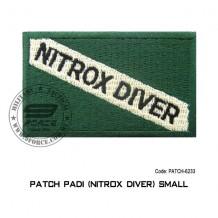 "Patch DIVER PADI - NITROX DIVER 3.5"" x  2.25"" (patch6233)"