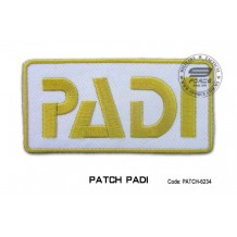 Patch DIVER PADI - gold (patch6234)
