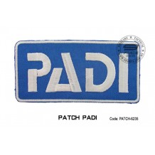 Patch DIVER PADI - blue (patch6235)