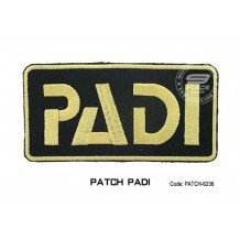 Patch DIVER PADI - black (patch6236)