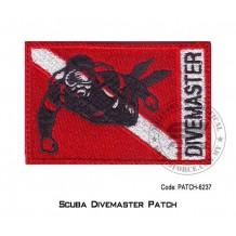 """PATCH SCUBA DIVEMASTER 3.5"""" x 2.25"""" (patch6237)"""