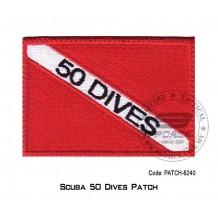 """PATCH SCUBA 50 DIVER 3.5"""" x 2.25"""" (patch6240)"""