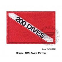 """PATCH SCUBA 200 DIVER 3.5"""" x 2.25"""" (patch6242)"""