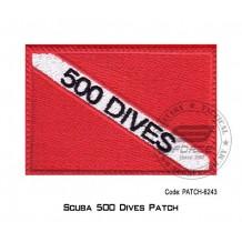 """PATCH SCUBA 500 DIVER 3.5"""" x 2.25"""" (patch6243)"""