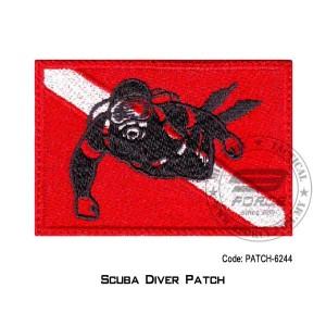 "PATCH SCUBA PADI  3.5"" x 2.25"" (patch6244)"